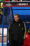 Roy Hodgson. The coach of Liverpool football team; Steaua - Liverpool match; Europa League Royalty Free Stock Photos