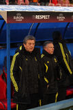 Roy Hodgson. The coach of Liverpool football team; Steaua - Liverpool match; Europa League Stock Images