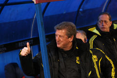 Roy Hodgson. The coach of Liverpool football team; Steaua - Liverpool match; Europa League Royalty Free Stock Photography