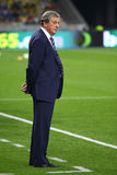 Roy Hodgson, manager of England National football team. KYIV, UKRAINE - SEPTEMBER 10, 2013: England National football team manager Roy Hodgson looks on during Royalty Free Stock Photo