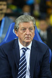 Roy Hodgson, manager of England National football team. KYIV, UKRAINE - SEPTEMBER 10, 2013: England National football team manager Roy Hodgson looks on during Stock Image