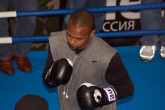 Roy Jones in Moscow Royalty Free Stock Image