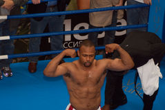 Roy Jones poses Stock Image