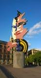 Roy Lichtenstein Head-beeldhouwwerk in Barcelona, Spanje Royalty-vrije Stock Fotografie