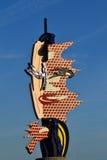 Roy Lichtenstein Head sculpture in Barcelona, Spain Royalty Free Stock Photography