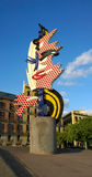Roy Lichtenstein Head sculpture in Barcelona, Spain Royalty Free Stock Photography