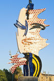 Roy Lichtenstein Head Sculpture, Barcelona Royalty Free Stock Image