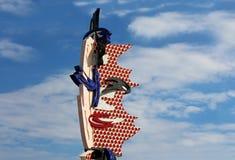 Roy Lichtenstein Head skulptur i Barcelona Royaltyfri Bild