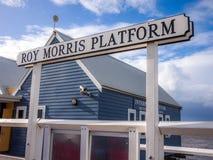 Roy Morris Platform Busselton Jetty Australia Royalty Free Stock Photo