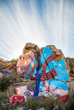 Roy Purcell Mural Near Chloride Arizona stock foto