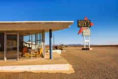 Roy-` s Motel und Café auf historischem Route 66 stockbilder