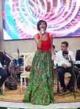 Roya es el cantante nacional de Azerbaijan Cantante y celebridad azerbaiyanos del estallido que canta en azerbaiyano y turco Ella fotografía de archivo libre de regalías
