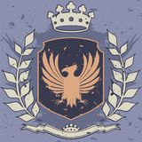 Royal. Background with shield vector illustration