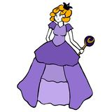 Royal. A royal girl standing and holding a sceptre Vector Illustration