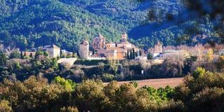 Royal Abbey of Santa Maria de Poblet. Catalonia, Spain Royalty Free Stock Photo