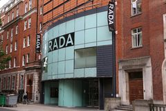 Royal Academy of Dramatic Art. LONDON, UK - JULY 6, 2016: Theatre of Royal Academy of Dramatic Art (RADA) in London, UK. The theatre school was founded in 1904 Stock Photo