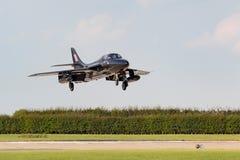 Royal Air Force anterior RAF Hawker Hunter T 7A G-FFOX operado por Hunter Flight Academy foto de stock royalty free