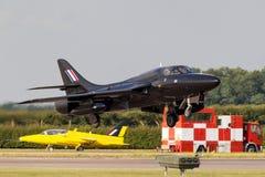Royal Air Force anterior RAF Hawker Hunter T 7A G-FFOX operado por Hunter Flight Academy imagem de stock