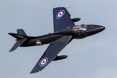 Royal Air Force anterior RAF Hawker Hunter T 7A G-FFOX operado por Hunter Flight Academy fotografia de stock