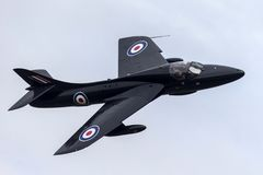 Royal Air Force anterior RAF Hawker Hunter T 7A G-FFOX operado por Hunter Flight Academy fotografia de stock royalty free