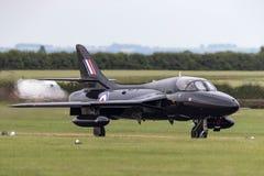 Royal Air Force anterior RAF Hawker Hunter T 7A G-FFOX operado por Hunter Flight Academy imagens de stock
