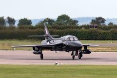 Royal Air Force anterior RAF Hawker Hunter T 7A G-FFOX operado por Hunter Flight Academy imagem de stock royalty free