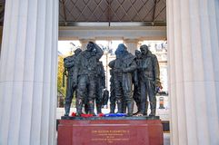 Royal Air Force Bomber Command Memorial. In Green Park in London, UK. Queen Elizabeth II officially opened the memorial on June 2012. - Great Britain Stock Photo