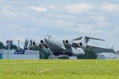 Royal Air Force C-17A en Praga Fotografía de archivo libre de regalías