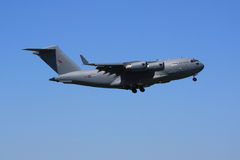 Royal Air Force C-17 on approach Stock Photos