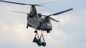 Royal Air Force CH-47 Chinook helicopter Royalty Free Stock Photo