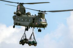 Royal Air Force CH-47 Chinook helikopter Arkivfoton