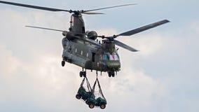 Royal Air Force CH-47 Chinook helikopter Royaltyfri Foto