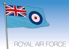 Royal Air Force chorążego flaga, Zjednoczone Królestwo, wektorowa ilustracja royalty ilustracja