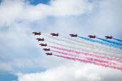 Royal Air Force Czerwone strzała - pokaz lotniczy W Estonia Tallinn 2014 ye Obrazy Stock