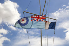 Royal Air Force-Fahnen-Flaggen-Bild - Briten RAF Flag Symbol Stockfotografie