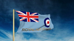 Royal Air Force flag slider style with title stock video