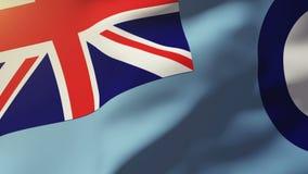 Royal Air Force marquent l'ondulation dans le vent boucler illustration de vecteur