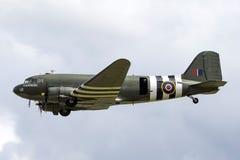 Royal Air Force RAF Battle av Britannien den minnes- flygDouglas cen-47 Dakota DC-3 ZA947 arkivbild