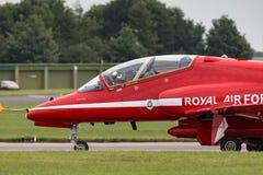 Royal Air Force RAF British Aerospace Hawk T 1 des Royal Air Force-Flugschauteams die roten Pfeile Stockfotografie