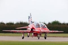 Royal Air Force RAF British Aerospace Hawk T 1 XX325 des Royal Air Force-Flugschauteams die roten Pfeile Stockfotos