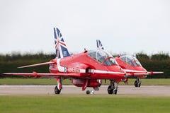 Royal Air Force RAF British Aerospace Hawk T 1 XX325 des Royal Air Force-Flugschauteams die roten Pfeile Lizenzfreie Stockfotos