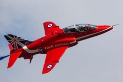 Royal Air Force RAF British Aerospace Hawk T 1 XX325 des Royal Air Force-Flugschauteams die roten Pfeile Stockfoto