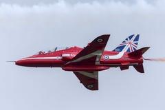 Royal Air Force RAF British Aerospace Hawk T 1 XX244 des Royal Air Force-Flugschauteams die roten Pfeile Lizenzfreie Stockfotografie