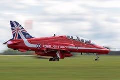 Royal Air Force RAF British Aerospace Hawk T 1 XX311 des Royal Air Force-Flugschauteams die roten Pfeile Lizenzfreies Stockfoto