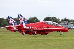 Royal Air Force RAF British Aerospace Hawk T 1 XX242 des Royal Air Force-Flugschauteams die roten Pfeile Lizenzfreie Stockbilder