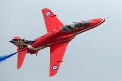 Royal Air Force RAF British Aerospace Hawk T 1 XX325 des Royal Air Force-Flugschauteams die roten Pfeile Stockbild