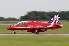 Royal Air Force RAF British Aerospace Hawk T 1A XX319 des Royal Air Force-Flugschauteams die roten Pfeile Lizenzfreies Stockfoto