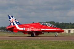 Royal Air Force RAF British Aerospace Hawk T 1 XX310 des Royal Air Force-Flugschauteams die roten Pfeile Stockfotos