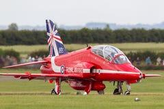 Royal Air Force RAF domokrążcy Siddeley jastrząb T 1A XX219 Royal Air Force pokazu Aerobatic drużyna Czerwone strzała zdjęcia stock