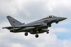 Royal Air Force RAF Eurofighter EF-2000 tyfon FGR 4 ZJ930 från inget skvadron som 41R baseras på RAF Coningsby Arkivbild